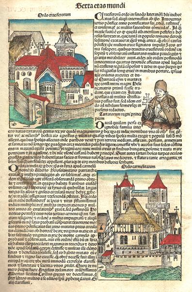 Michael WOHLGEMUT (Norimberga, 1434 – 1519) – ORDO CROCIFERORUM e ORDO CARMELITARUM