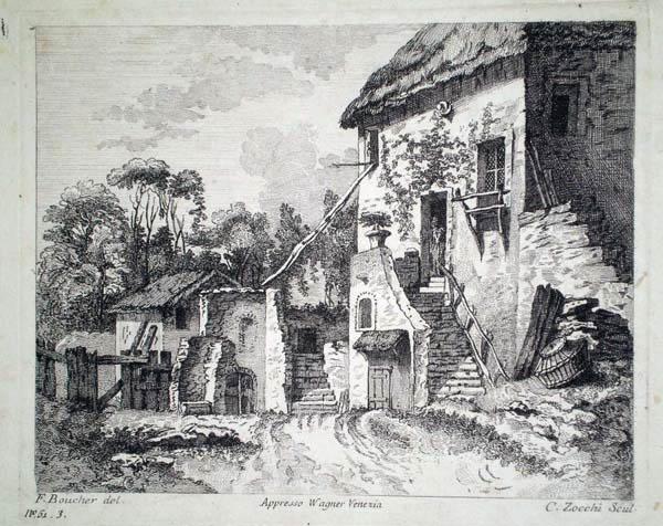 Giuseppe ZOCCHI (Firenze, 1717 – 1787) – PAESAGGIO da Boucher (1717)