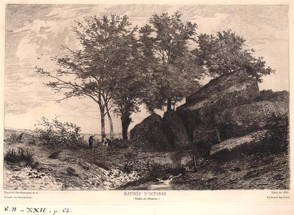 Tancrède ABRAHAM (Francia, 1836 – 1895) – MATINEE D'OCTOBRE