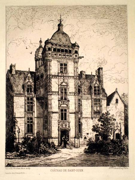 Tancrède ABRAHAM (Francia, 1836 – 1895) – CHATEAU DE SAINT-OUEN