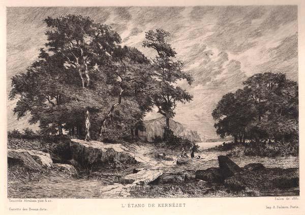 Tancrède ABRAHAM (Francia, 1836 – 1895) – L'ETANG DE KERNEZET