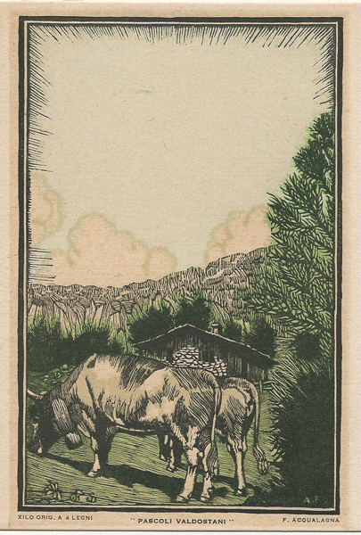 Francesco ACQUALAGNA (Attivo inizi XX secolo) – PASCOLI VALDOSTANI