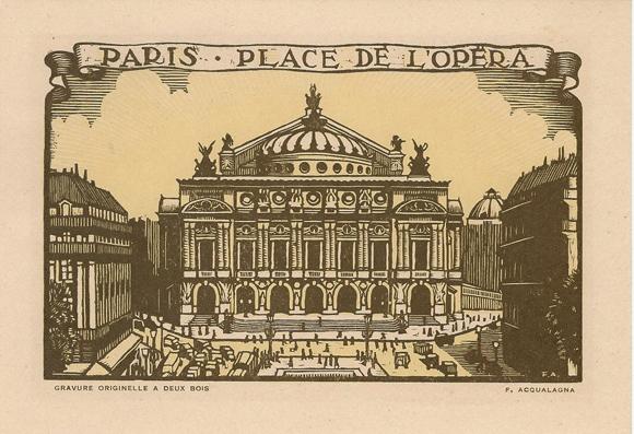 Francesco ACQUALAGNA (Attivo inizi XX secolo) – PARIS. PLACE DE L'OPERA