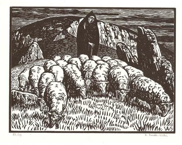 Henri AMEDEE-WETTER (Francia, 1868 – 1929) – UN SOIR DANS LA CREUSE