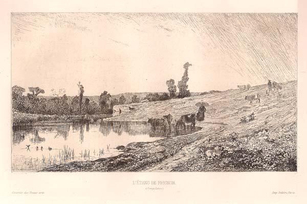 Adolphe APPIAN (Francia, 1818 – 1898) – L'ETANG DE FRIGNON