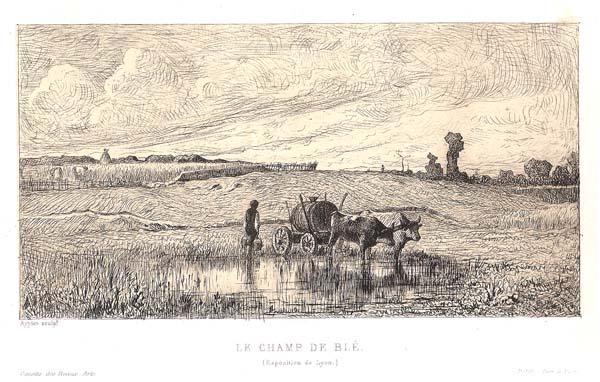 Adolphe APPIAN (Francia, 1818 – 1898) – LE CHAMP DE BLE