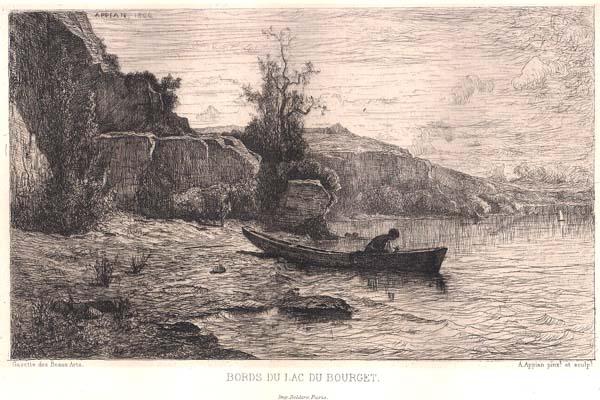 Adolphe APPIAN (Francia, 1818 – 1898) – BORDS DU LAC DU BOURGET