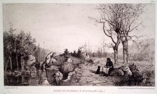 Adolphe APPIAN (Francia, 1818 – 1898) – BORDS DU RUISSEAU À ROSSILON (1867)