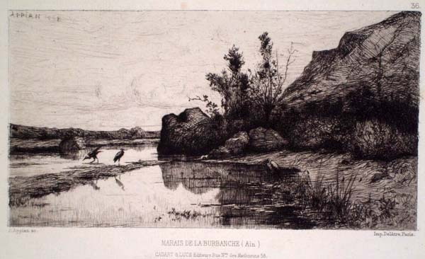 Adolphe APPIAN (Francia, 1818 – 1898) – MARAIS DE LA BURBANCHE (1868)