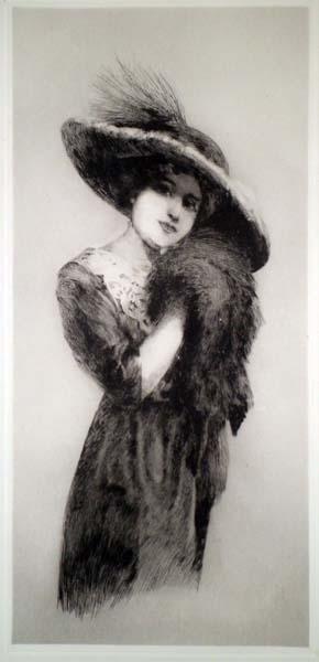 Jules Georges Etienne BALDENWECK (Francia, 1882 – ?) – ELEGANTE EN CHAPEAU