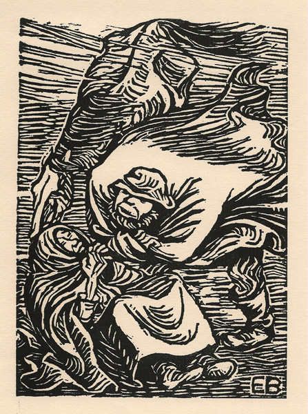 Ernst BARLACH (Germania, 1870 – 1938) – GRUPPE IN STURM