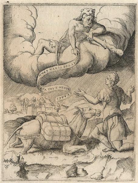 Giulio BONASONE (Bologna, circa 1498 – 1580) – ERCOLE E UN CONDUCENTE DI MULI