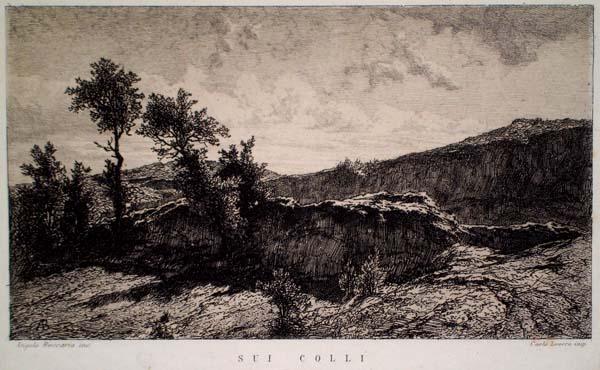 Angelo BECCARIA (Torino, 1820 – 1897) – SUI COLLI (1869)