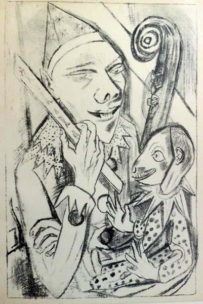 Max BECKMANN (Germania, 1884 – 1950) – PIERROT UND MACKE