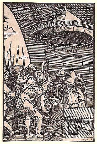 Albrecht ALTDORFER (Baviera, c.a 1480 – 1538) – PILATO SI LAVA LE MANI