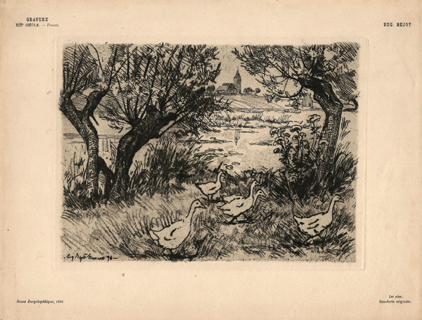 Eugène BEJOT (Francia, 1867 – 1931) – LES OIES (1895)