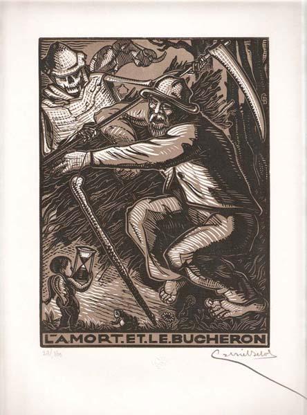 Gabriel BELOT (Francia, 1882 – 1962) – LA MORT ET LE BUCHERON