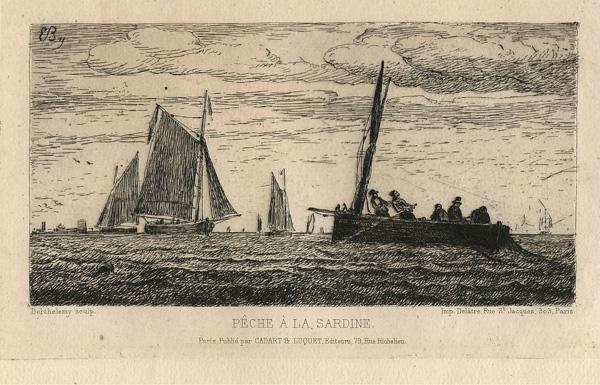 Pierre-Emile BERTHELEMY (Francia, 1818 – 1890) – PECHE A LA SARDINE