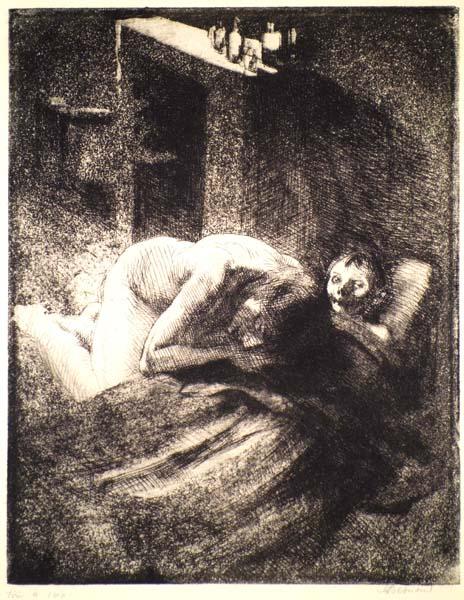 Albert BESNARD (Francia, 1849 – 1934) – LA MISERE