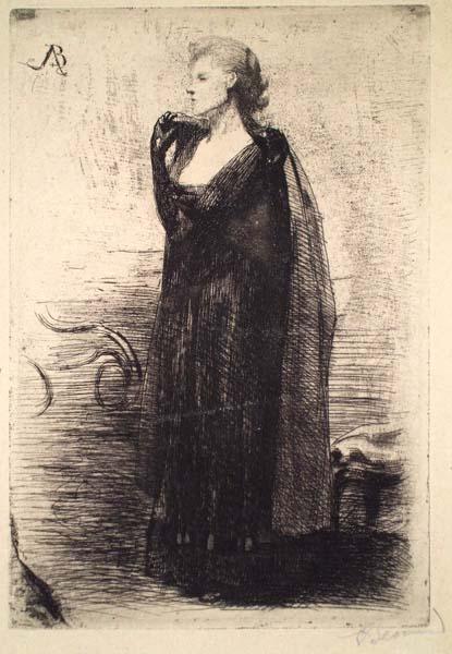 Albert BESNARD (Francia, 1849 – 1934) – LA DAME EN NOIR (1890)