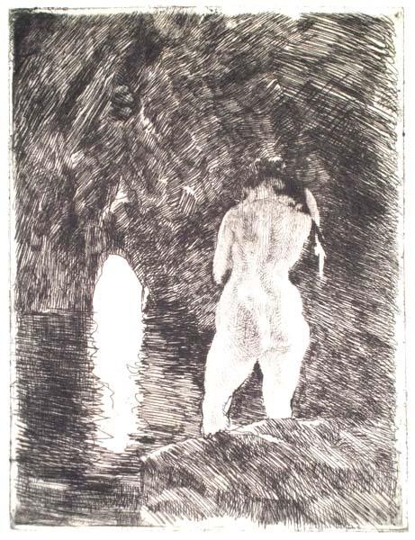 Albert BESNARD (Francia, 1849 – 1934) – LA GROTTE (1924)