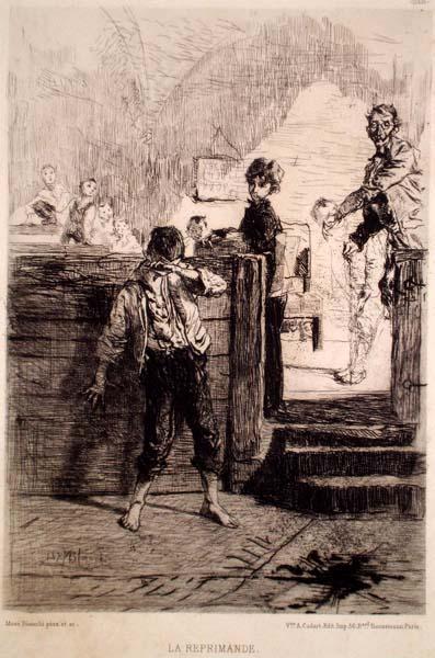 Mosè BIANCHI (Monza, 1845 – 1904) – LA REPRIMANDE