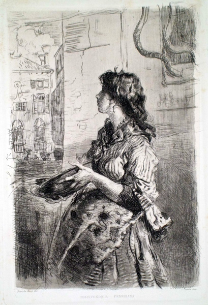 Mosè BIANCHI (Monza, 1845 – 1904) – PESCIVENDOLA VENEZIANA