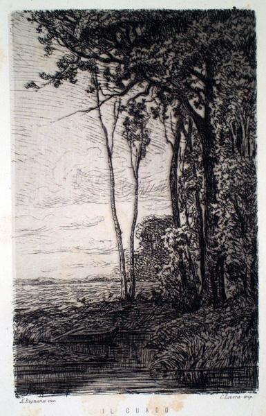 Adolfo BIGNAMI (Bologna, 1836 – 1906) – IL GUADO
