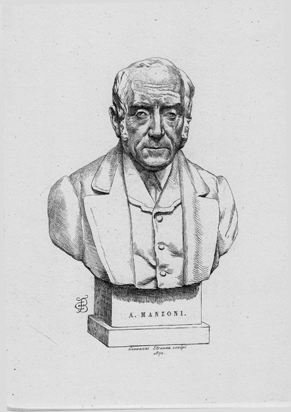 Carlo Felice BISCARRA (Torino, 1823 – 1894) – ALESSANDRO MANZONI