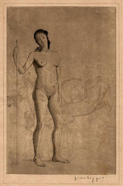 Piero BOGGIO (Attivo in Piemonte inizi XX sec.) – NUDO DI DONNA