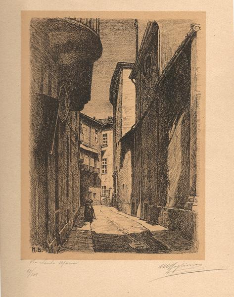 Marcello BOGLIONE (Pescara, 1891 – 1957) – VIA SANTA MARIA (1928)
