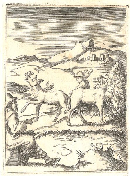 Giulio BONASONE (Bologna, circa 1498 – 1580) – CONDUTTORE CON DUE ASINI