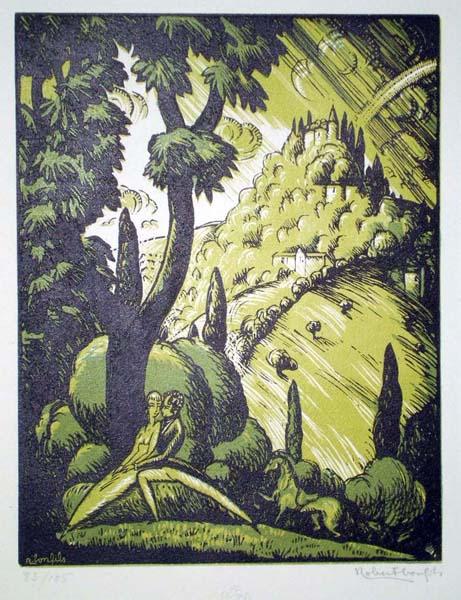 Robert BONFILS (Francia, 1886 – 1971) – LE SERMENT