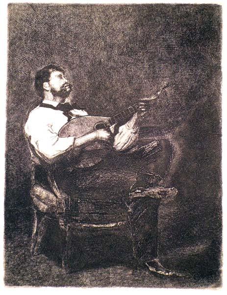 François BONVIN (Francia, 1817 – 1887) – LE GUITARISTE