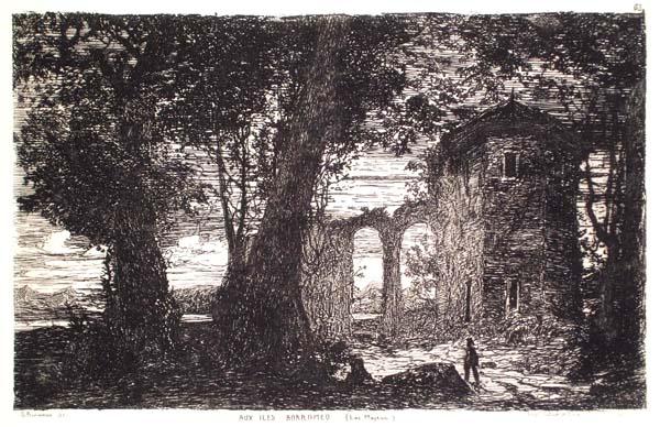 Giberto BORROMEO (Milano, 1815 – 1895) – AUX ILES BORROMEO