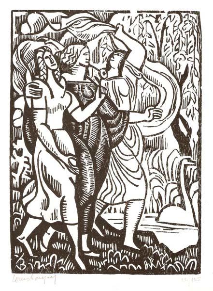 Louis BOUQUET (Francia, 1885 – 1952) – LA PROMENADE