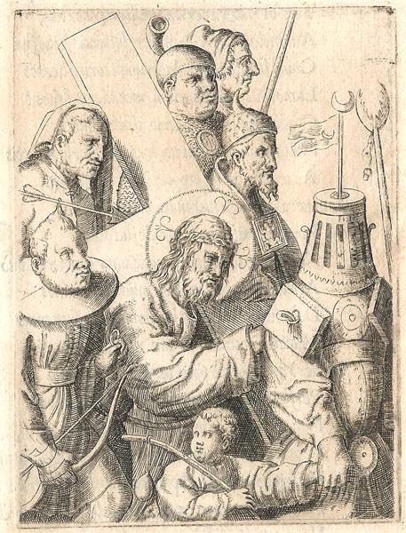 Giulio BONASONE (Bologna, circa 1498 – 1580) – CRISTO TRASPORTA LA CROCE