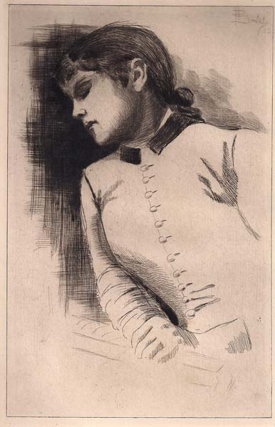 Henri BOUTET (Francia, 1851 – 1919) – RAGAZZA (1883)