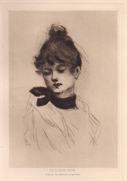 Henri BOUTET (Francia, 1851 – 1919) – LE RUBAN NOIR