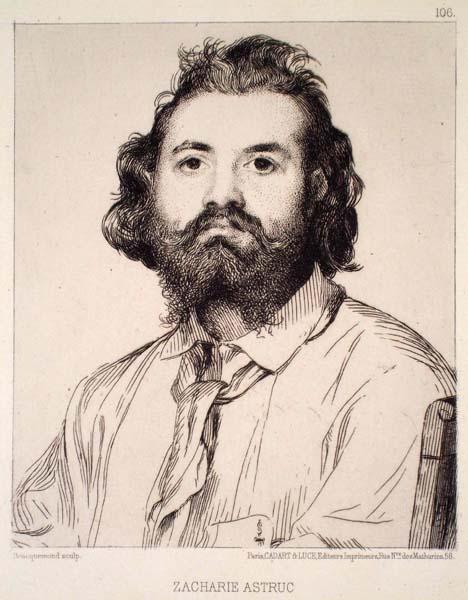 Félix BRACQUEMOND (Francia, 1833 – 1914) – ZACHARIE ASTRUC