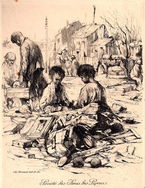 Auguste BROUET (Francia, 1872 – 1941) – COIN DE LA ZONE À SAINT OUEN