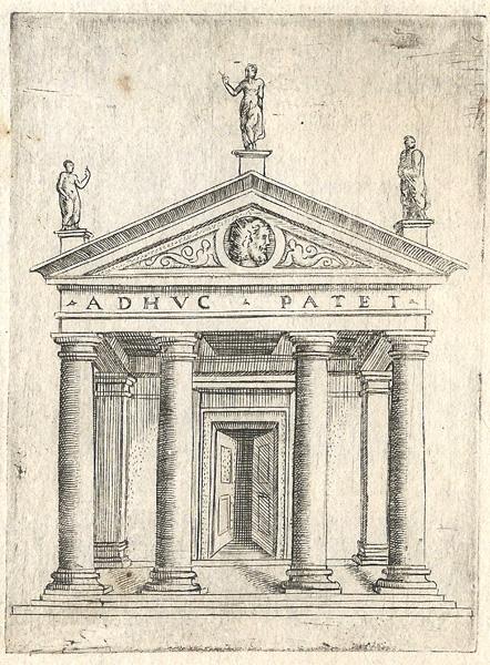 Giulio BONASONE (Bologna, circa 1498 – 1580) – TEMPIO DI GIANO