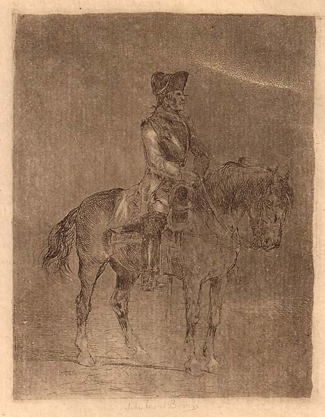 John Lewis BROWN (Francia, 1829 – 1890) – SOLDATO A CAVALLO