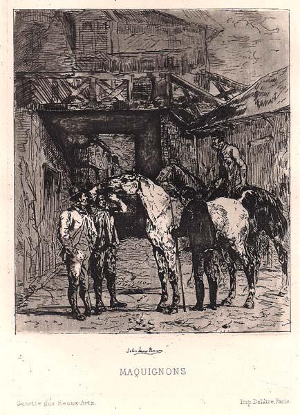 John Lewis BROWN (Francia, 1829 – 1890) – MAQUIGNONS