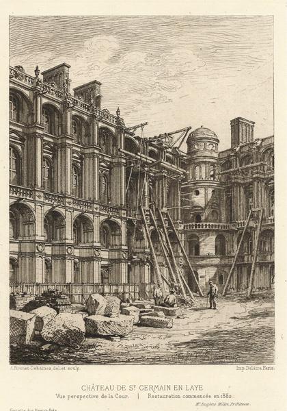 Alfred-Louis BRUNET-DEBAINES (Francia, 1845 – 1939) – CHATEAU DE ST GERMAIN EN LAYE