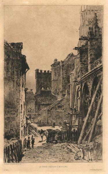 Alfred-Louis BRUNET-DEBAINES (Francia, 1845 – 1939) – LE VIEUX CHATEAU À MOULINS