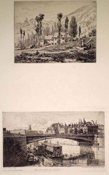 Alfred-Louis BRUNET-DEBAINES (Francia, 1845 – 1939) – VUE DU PONT S.t LOUIS