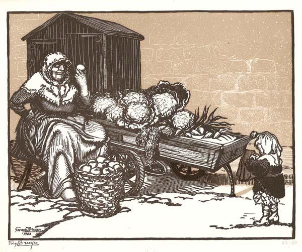 Georges Léon BRUYER (Francia, 1883 – 1962) – LA BONNE COMMERE, LA BEAUE POMME ET LA PETIT POIRE
