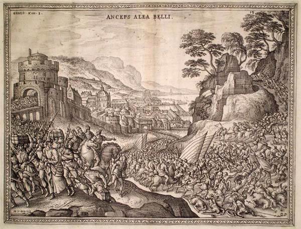Pieter Van der BORCHT (Olanda, 1545 – 1608) – LA CATTURA DI LOTH