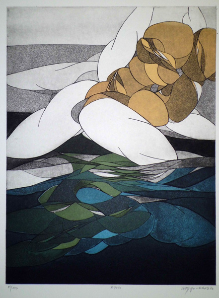 Wolff BUCHHOLZ (Germania, 1935 – ?) – GRUPPE IN MEER (1970)